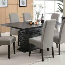 coaster fine furniture stanton black rectangular dining table