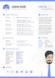 Adobe Indesign Resume Templates Free A4 Resume Template On Behance
