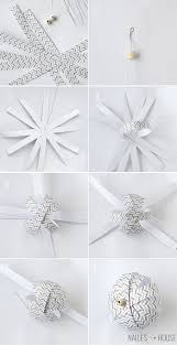 Paper Christmas Decorations To Make At Home by Homemade Paper Ball Ornaments Handmade Ornament No 11