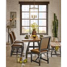 lancaster 7 pc industrial dining set abode u0026 company