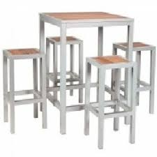 Aluminium Bar Table Brew Outdoor Tables Stools Benches Set For Hotels And