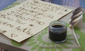 diy natural herbal ink u0026 feather pen natural hippy homeschool