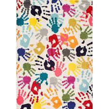 Nuloom Rug Reviews Nuloom Pinkie Handprint Multi 8 Ft X 10 Ft Area Rug Eccr15a 8010