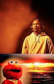 Explosion Meme - new elmo watching nuclear explosion meme featuring frank ocean can