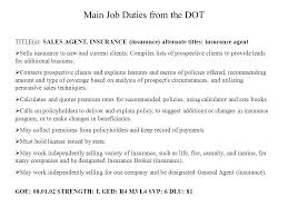 Life Insurance Agent Resume Insurance Agent Job Description Independent Insurance Agent