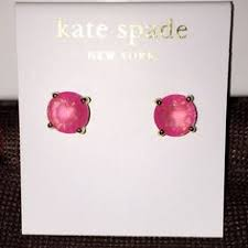 rhodium earrings sensitive ears take 30 kate spade pink tigereye earrings nwt sensitive