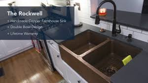 Copper Kitchen Sink by The Rockwell Copper Kitchen Farmhouse Sink Youtube