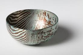 mokume gane raised mokume gane bowl made from 48 layers of silver and