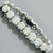 bracelet diamond designs images 14k gold cluster designer diamond bracelet 15 40ct jpg