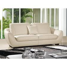 canap cuir beige canapé 3 places en cuir beige julietta achat vente canapé sofa