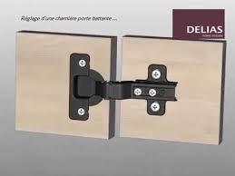penture porte armoire cuisine réglage charnière porte battante de meuble