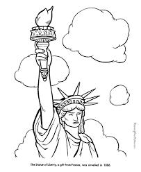 statue liberty facts pictures coloring pages