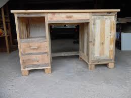 construire bureau faire un bureau a caissons en bois de palette