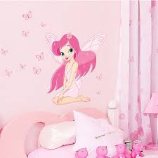 online get cheap fairy wall stickers aliexpress com alibaba group 2016 cute fairy princess butterly decals vinyl art wall sticker kids girl pink room decor t1315