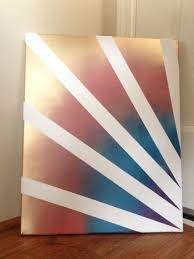 diy home decor materials canvas painters tape spray paint