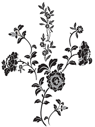 black wall decals small black bow wall decals on a beige wall black flower wall stickers brocade black floral wall art sticker kit