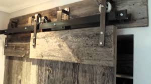 Sliding Barn Door Kits Rebarn U0027s Bypass Barn Door Hardware Youtube