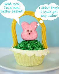 peeps easter basket peeps cupcakes