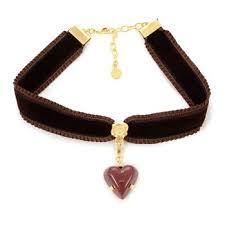 velvet ribbon q pot velvet ribbon choker w amour chocolate charm tokyo