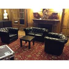 canapé chesterfield noir location canapé chesterfield 2 places cuir noir