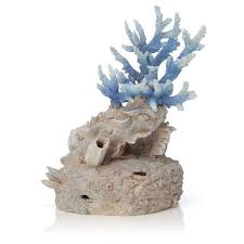 biorb handcrafted coral reef aquarium ornament blue fish