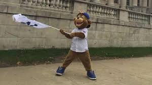 Chicago Cubs Flags Cubs Mascot Surprises Fans Wrigleyville Bars Prepare For Big