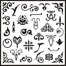 elements clipart ornamental pencil and in color elements clipart