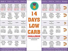14 days low carb challenge diet plans and weekly challenges