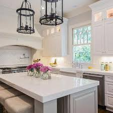 Kitchen Quartz Countertops Black Kitchen Island With Storage Cabinets Transitional Kitchen