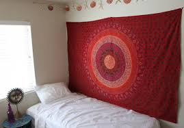 Bedroom Tapestry Wall Hangings Magical Twin Red Plum And Bow Medallion Tapestry Wall Hanging