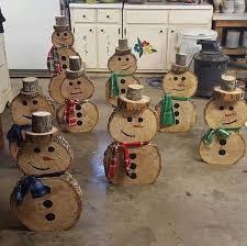 wooden snowmen pinteres