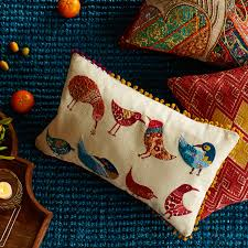 Peacock Pillow Pier One by Boho Birds With Poms Lumbar Pillow Pier 1 Imports