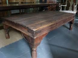 Hardwood Coffee Table Large Indian Hardwood Coffee Table 92737 Sellingantiques Co Uk