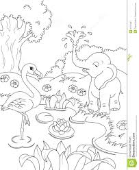coloring pages coloring page nature pages volcano and jungle