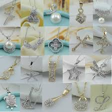 heart rhinestone necklace images Wholesale new women pendant necklace silver jewelry rhinestone jpg