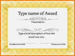 7 free printable blank award certificate templates sample of
