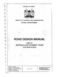 kenya road design manual part iii