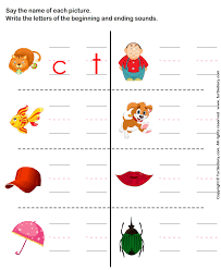 write the letter of beginning and ending sound worksheet turtle