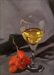 how to paint a wine glass or any clear glass using oil paint