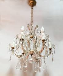 Vintage Glass Chandelier Italian Crystal And Glass Chandelier Italian Vintage Pampilles