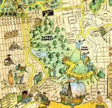 Maps San Francisco by A 1927 San Francisco Tourist Map Shows Sutro Forest Save Mount