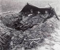 Army Thanksgiving Leave Three Gis Eat K Rations In The Rain Thanksgiving Day 1944
