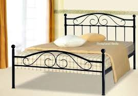 bed frame calton double metal bed frame black white metal double