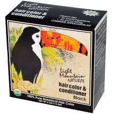 light mountain natural hair color black light mountain natural hair color conditioner black 4 oz 113 g