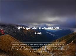 Seeking Where The Things Are What You Seek Is Seeking