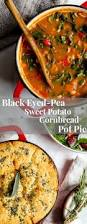 black eyed pea sweet potato cornbread pot pie vanilla and bean