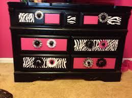 zebra and pink finished dresser zebra teen room pinterest