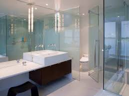 Modern Lighting For Bathroom by Glass Shower Enclosure With Stunning Lighting Fixtures For Modern