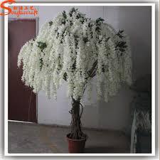 factory price small flower tree purple wisteria flowers artificial