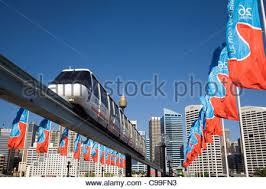 monorail darling harbour sydney wallpapers monorail at darling harbour with the city skyline in the
